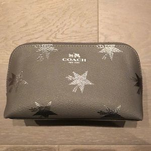 Coach Make Up Case, Grey with Metallic Stars